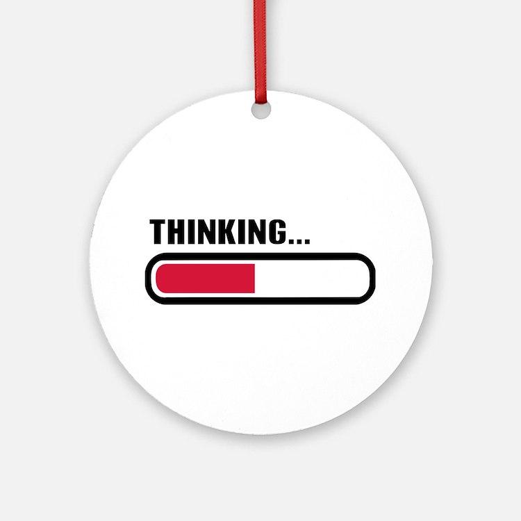 Thinking loading Ornament (Round)