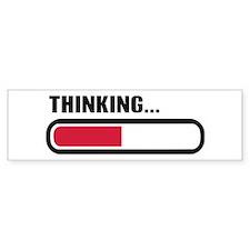 Thinking loading Car Sticker