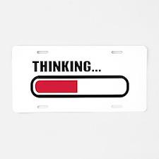 Thinking loading Aluminum License Plate
