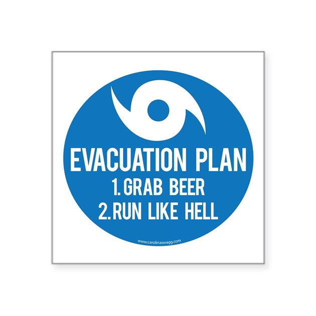 hurricane evacuation plan sticker by carolinaswaggernc