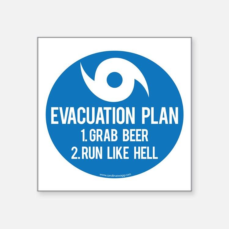 Hurricane Evacuation Plan Sticker