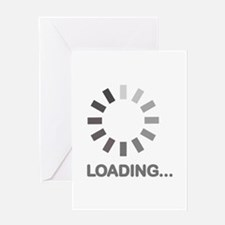 Loading bar internet Greeting Card