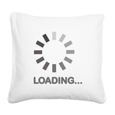Loading bar internet Square Canvas Pillow