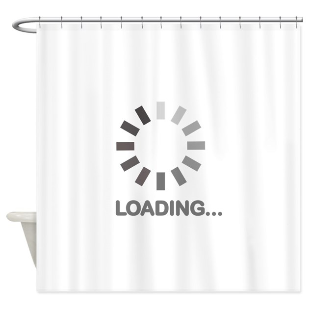 Loading bar internet Shower Curtain by Teedepartment