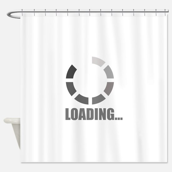 Loading bar Shower Curtain