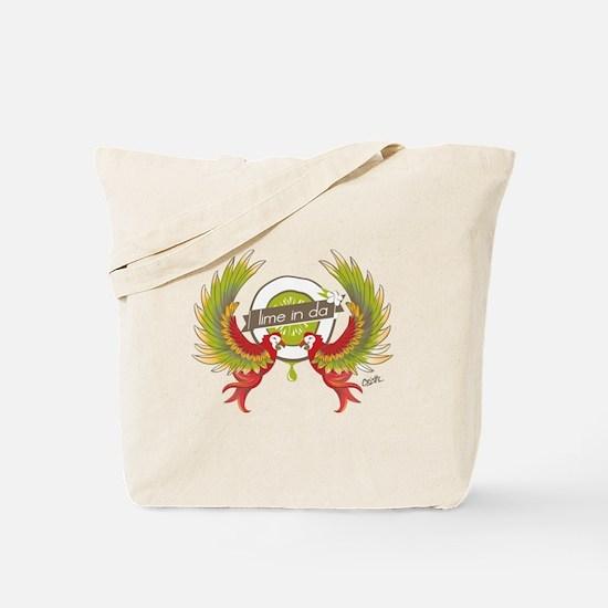 Lime in da coconut Parrots Tote Bag