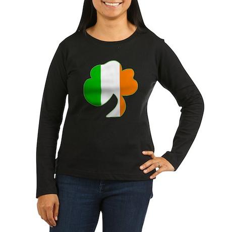 Flag Shamrock Women's Long Sleeve Dark T-Shirt