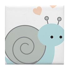 Lovely Snail Tile Coaster