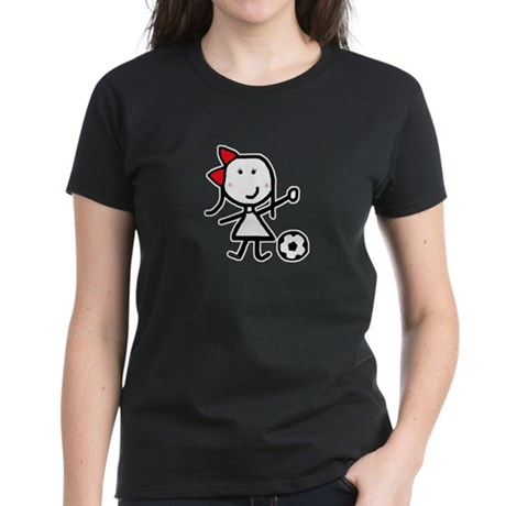 Girl & Soccer Women's Dark T-Shirt