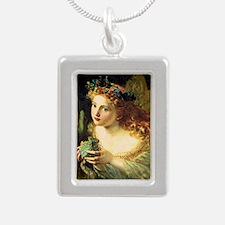 The Fair Face Silver Portrait Necklace