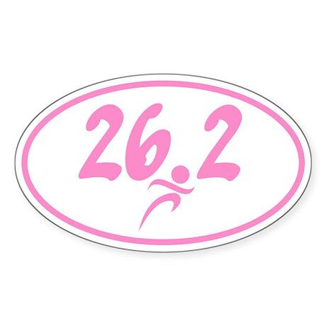Pink 26.2 marathon Sticker