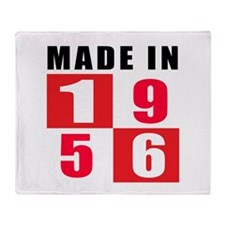 Made In 1956 Throw Blanket