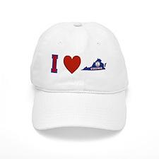 I Love Virginia Baseball Cap