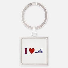 I Love Virginia Square Keychain