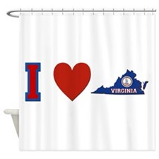 I Love Virginia Shower Curtain