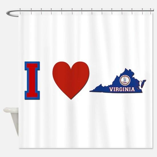 I Love Virginia Shower Curtain