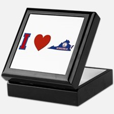 I Love Virginia Keepsake Box