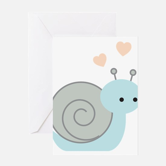 Lovely Snail Greeting Card