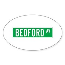 Bedford Ave., New York - USA Oval Decal
