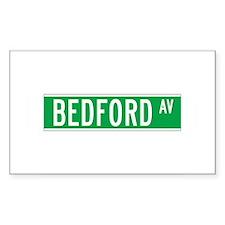 Bedford Ave., New York - USA Sticker (Rectangular