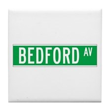 Bedford Ave., New York - USA Tile Coaster