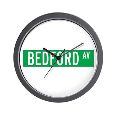 Bedford Ave., New York - USA Wall Clock