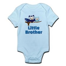 Little Brother Owl Blue Body Suit