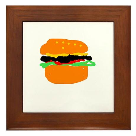 burger Framed Tile