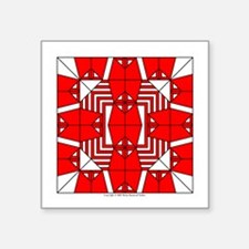 "Red Owls Design Square Sticker 3"" x 3"""