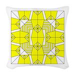 Yellow Owls Design Woven Throw Pillow