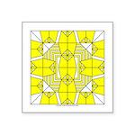 Yellow Owls Design Square Sticker 3