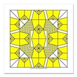 Yellow Owls Design Square Car Magnet 3