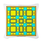 Dutch Gold And Yellow Design Woven Throw Pillow