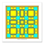 Dutch Gold And Yellow Design Square Car Magnet 3