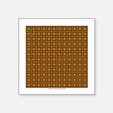"Brown Latticework Square Sticker 3"" x 3"""