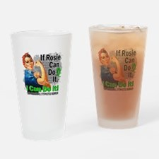 If Rosie Can Do It NH Lymphoma Drinking Glass