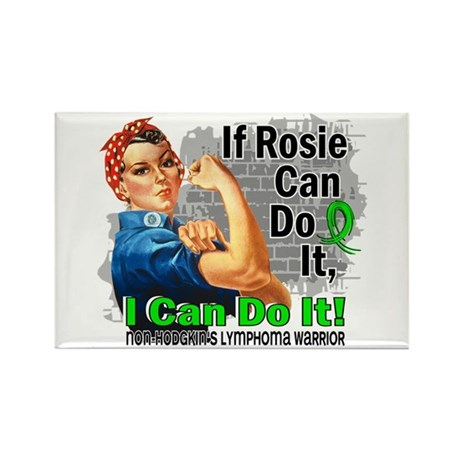 If Rosie Can Do It NH Lymphoma Rectangle Magnet