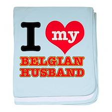 I love my Belgian Husband baby blanket