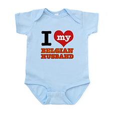 I love my Belgian Husband Infant Bodysuit