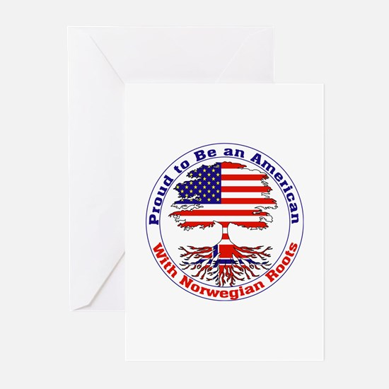 American-Norwegian Roots Greeting Cards (Package o