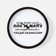 Veiled Chamileon lovers designs Wall Clock
