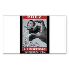 President Pez Lie Dispenser Decal