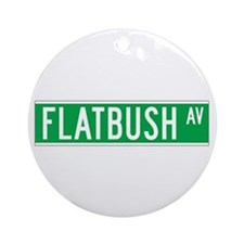 Flatbush Ave., New York - USA Ornament (Round)
