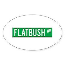 Flatbush Ave., New York - USA Oval Decal