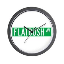 Flatbush Ave., New York - USA Wall Clock
