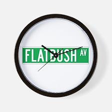 Flatbush Ave., New York - USA Wall Clock