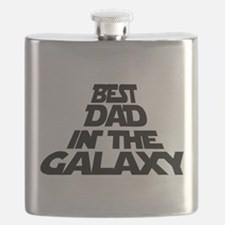 BEST DAD IN THE GALAXY Flask