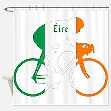 Irish Cycling Shower Curtain