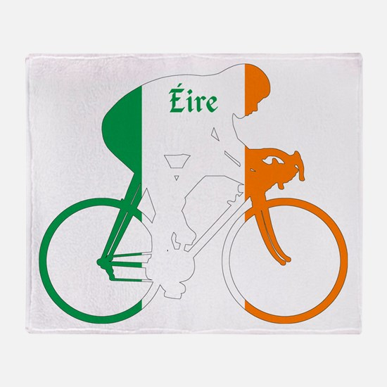 Irish Cycling Throw Blanket