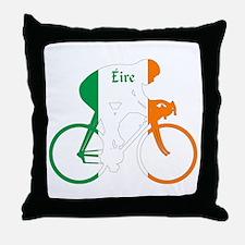 Irish Cycling Throw Pillow